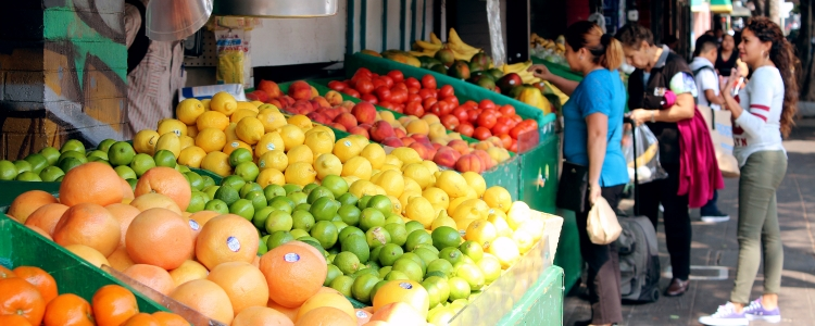 Photo of Produce market on 24th Street in the Mission District of SF